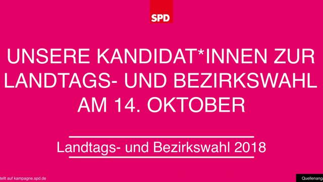 Die Kandidat*innen der OberfrankenSPD
